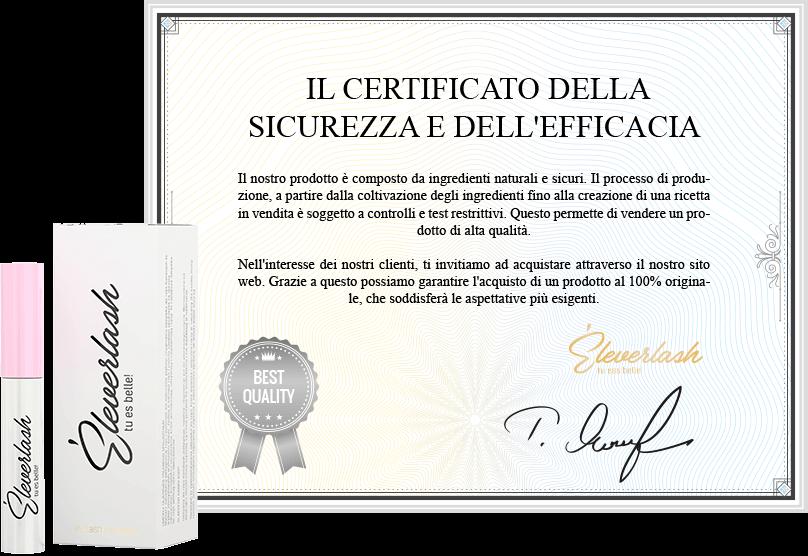eleverlash siero ciglia certyfikat